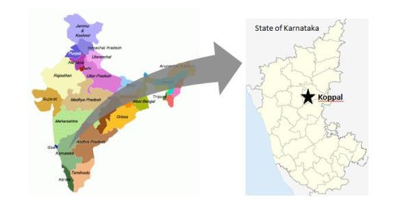 India Karnataka map